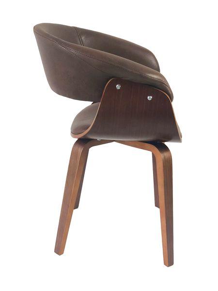 Lounge Sessel SELLA Chocolate-Q Vollholz Textilleder Stuhl Design Armlehnenstuhl – Bild 3