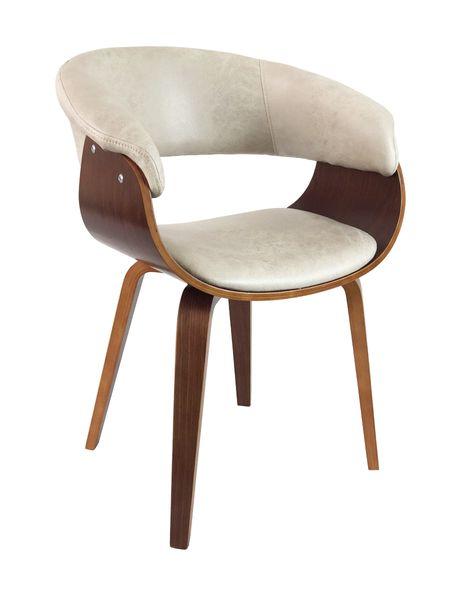 Lounge Sessel SELLA Cream-Q Vollholz Textilleder Stuhl Design Armlehnenstuhl