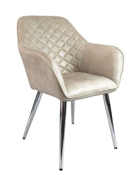 Sessel SEDES Cream-Q Textilleder Stuhl Design Lounge Armlehnenstuhl – Bild 1