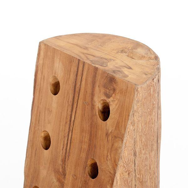 Flaschenhalter BOTELLA 60cm Teak Natural Massivholz – Bild 5