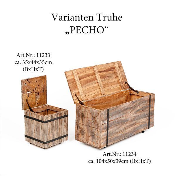 Truhe PECHO Natural H44cm Teak auf Rollen – Bild 8