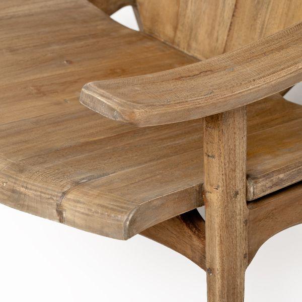 Design Lounge-Stuhl BRASIL 71x77x72cm (BxHxT) Natural Teak  – Bild 6