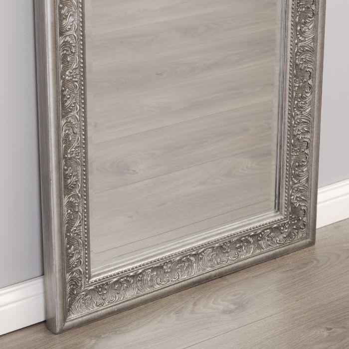 Spiegel fiora 140x50cm antik silber 6890 - Antik spiegel silber ...