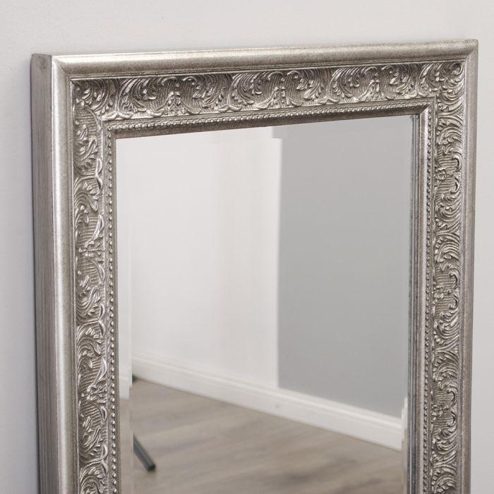 Spiegel fiora 180x70cm antik silber 6892 - Antik spiegel silber ...