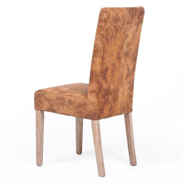 Echtleder-Stuhl CLASSIC Middle-Brown – Bild 4
