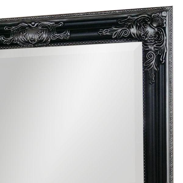 Spiegel BESSA schwarz-silber 120x60cm barock – Bild 2