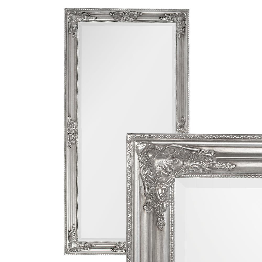 Spiegel BESSA barock silber-antik 120x60cm