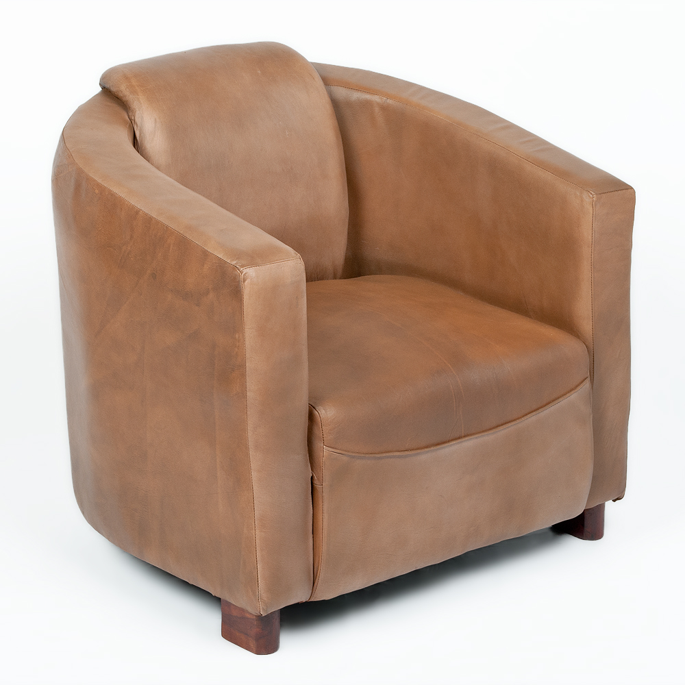 Lounge Leder Sessel HELLO Cognac R Leather E 6939