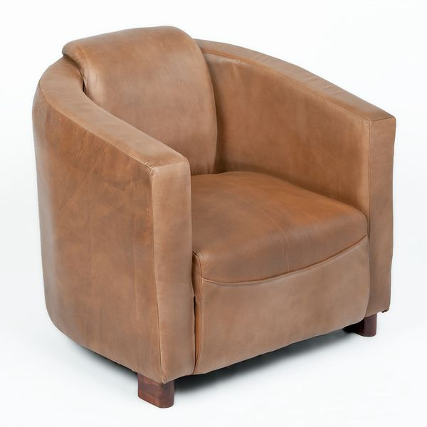 Lounge Leder Sessel HELLO Cognac-R (Leather-E) – Bild 1