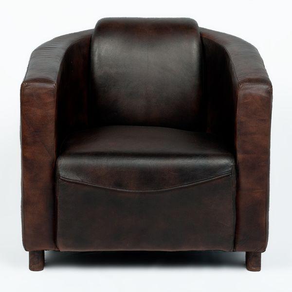 Lounge Leder-Sessel HELLO Dark-Brown-R (Leather-C) – Bild 2