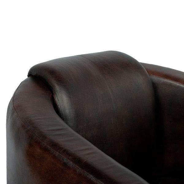 Lounge Leder-Sessel HELLO Dark-Brown-R (Leather-C) – Bild 4