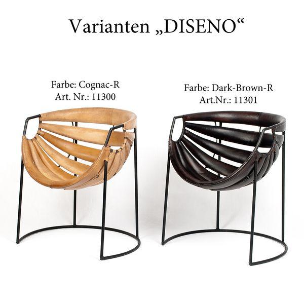 Leder-Sessel DISENO Cognac-R (Leather-E) Stuhl – Bild 7