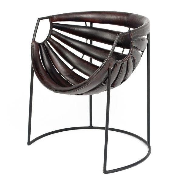 Leder-Sessel DISENO Dark-Brown-R (Leather-C) Stuhl – Bild 1