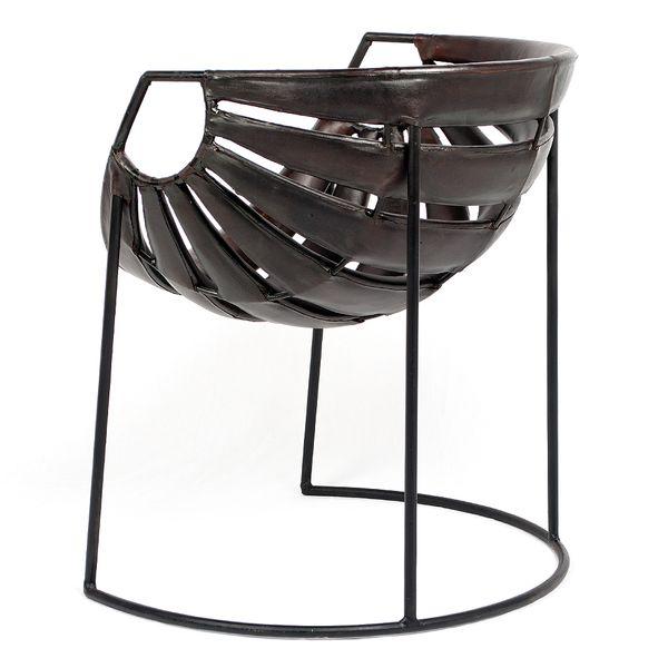 Leder-Sessel DISENO Dark-Brown-R (Leather-C) Stuhl – Bild 2