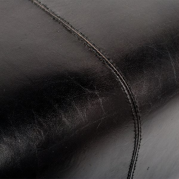 Leder-Bank MAXIMA 80cm Dark-Brown-R (G-Leather-D) – Bild 4
