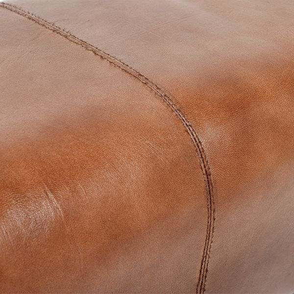Leder-Bank MAXIMA 80cm Brown-R (G-Leather-B) – Bild 5