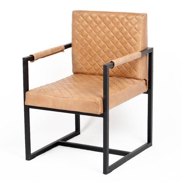 Leder Sessel HARDY Cognac-R (Leather-E) Armlehnenstuhl – Bild 1