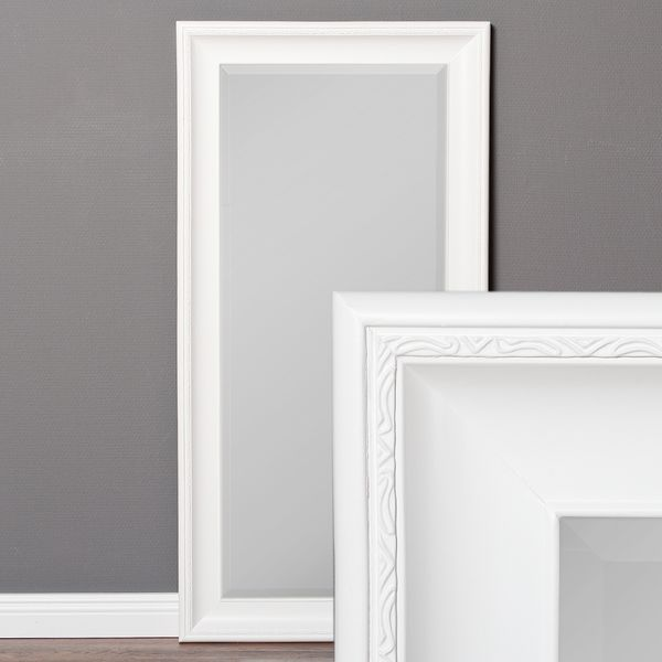 Spiegel COPIA 120x60cm Pur-Weiß Wandspiegel Barock – Bild 1
