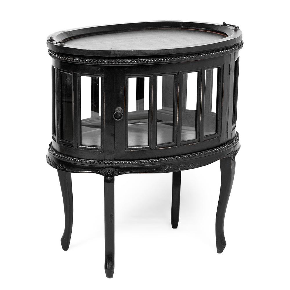 Barschrank CORUNA Mahagoni Antique Black