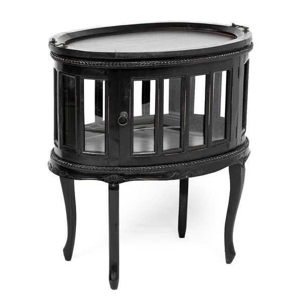 Barschrank CORUNA Mahagoni Antique Black – Bild 1