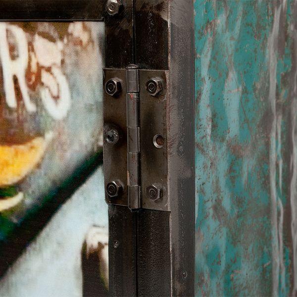 Kommode LOGAM-KÄFER L80cm recyceltes Metall – Bild 3