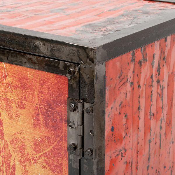 Kommode LOGAM-NEW YORK L80cm recyceltes Metall – Bild 4