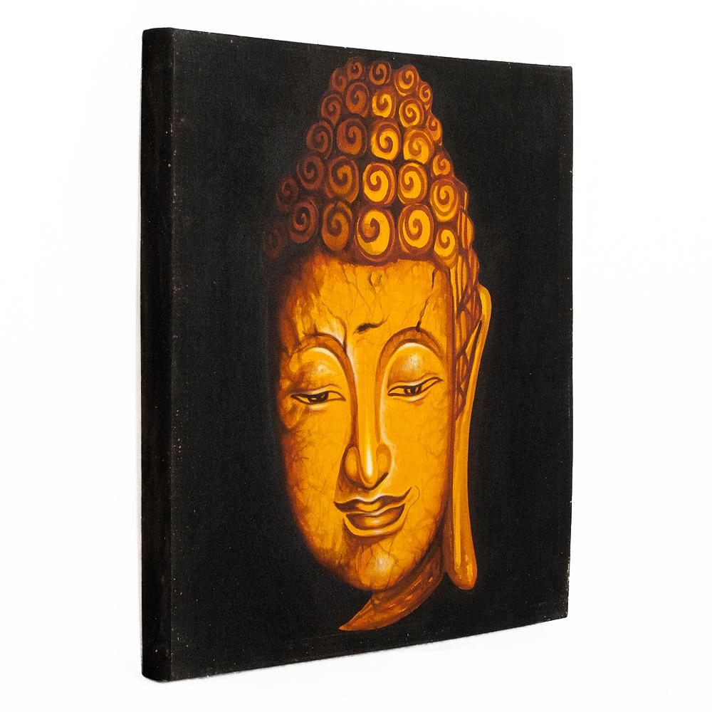 wandbild buddha 60x60cm auf leinwand handmade 7014. Black Bedroom Furniture Sets. Home Design Ideas