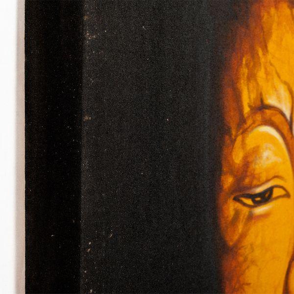 Wandbild BUDDHA 60x60cm auf Leinwand Handmade – Bild 3