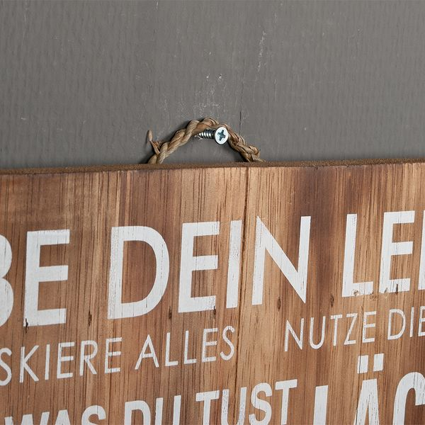 Deko-Wandbild LÄCHLE 40x60cm Holz – Bild 4