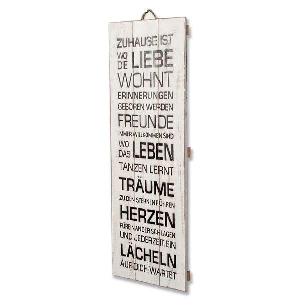 Deko-Wandbild ZUHAUSE 30x80cm Holz – Bild 2