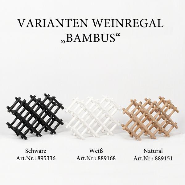 Weinregal BAMBUS ca. L57cm Schwarz – Bild 6
