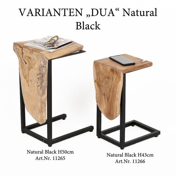 Teak Beistelltisch DUA H50cm Natural Black – Bild 2