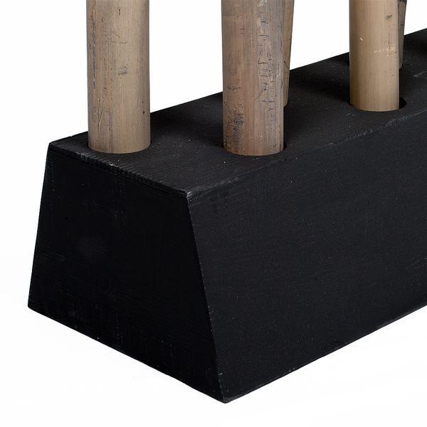 Bambus Raumteiler PARAVENTO Grau ca. 97x225cm (BxH) – Bild 4