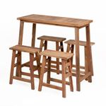 5tlg. Bar Set GEMI-XL Teak Natural 001