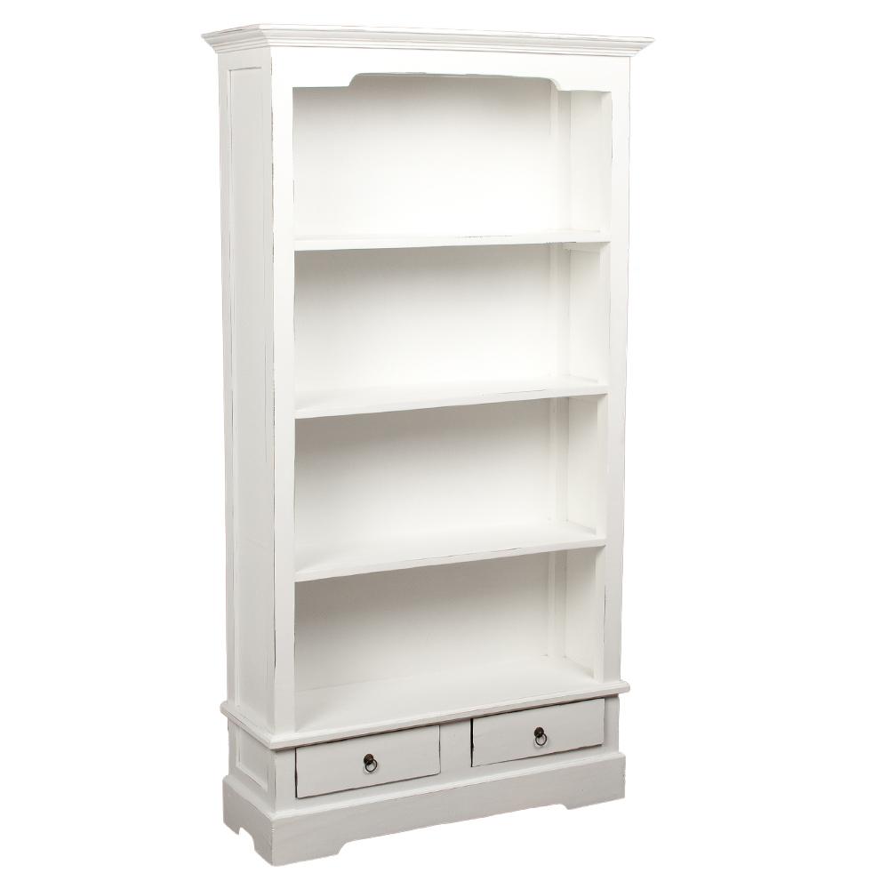 Bücherregal ANGELIQUE Antik Weiß ca. B97cm