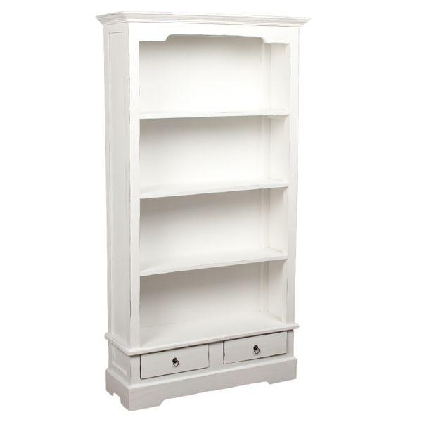 Bücherregal ANGELIQUE Antik Weiß ca. B97cm – Bild 1
