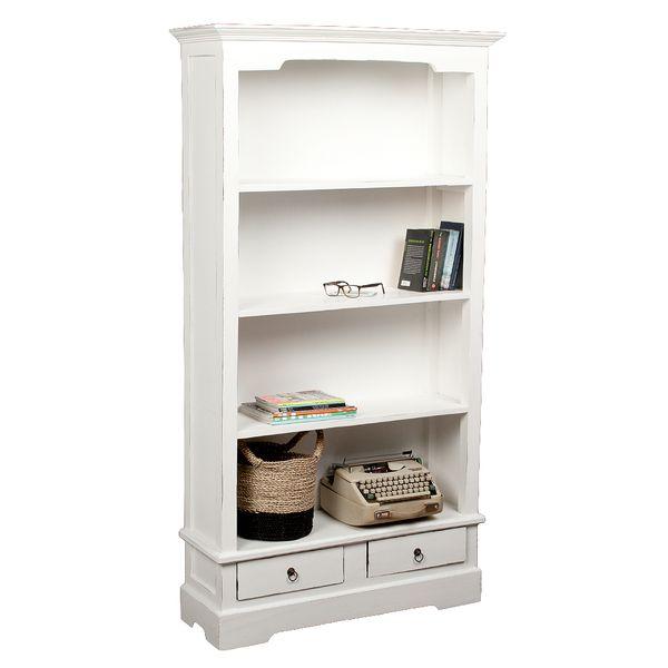 Bücherregal ANGELIQUE Antik Weiß ca. B97cm – Bild 2