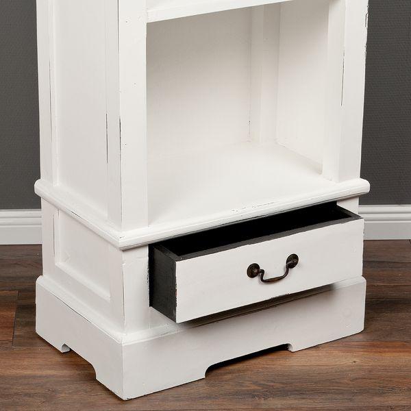 Bücherregal ANGELIQUE Antik Weiß ca. B56cm – Bild 5