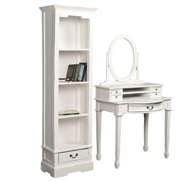 Bücherregal ANGELIQUE Antik Weiß ca. B56cm – Bild 3