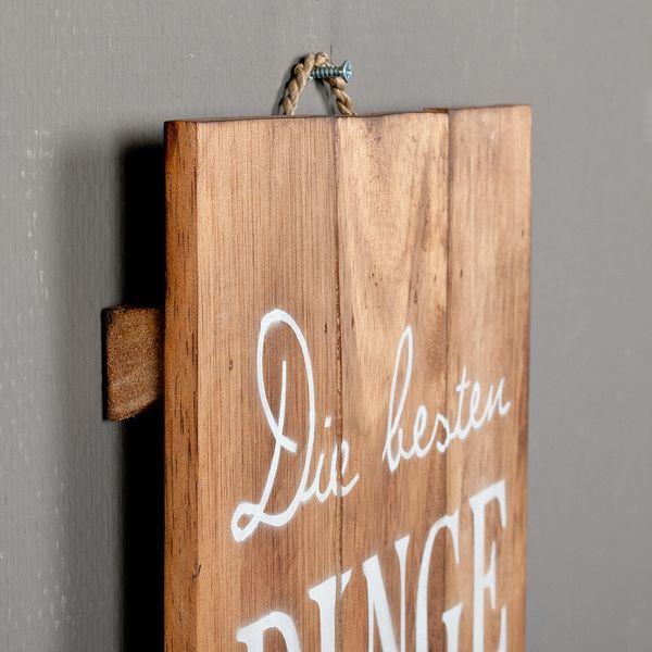 Deko-Wandbild DINGE 30x80cm Holz Weiß/Geflammt – Bild 3