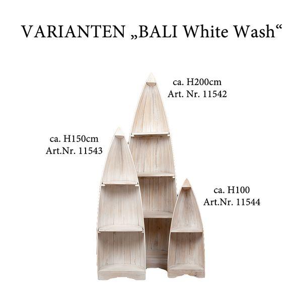 Bootsregal BALI White Wash Mahagoni ca. H200cm – Bild 6