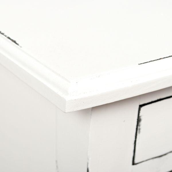 Beistelltisch FIO Mahagoni H68cm Antik-Weiß – Bild 5