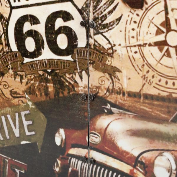 Kommode LOGAM-ROUTE 66 L80cm recyceltes Metall – Bild 4