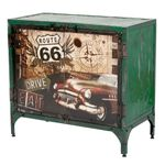 Kommode LOGAM-ROUTE 66 L80cm recyceltes Metall 001