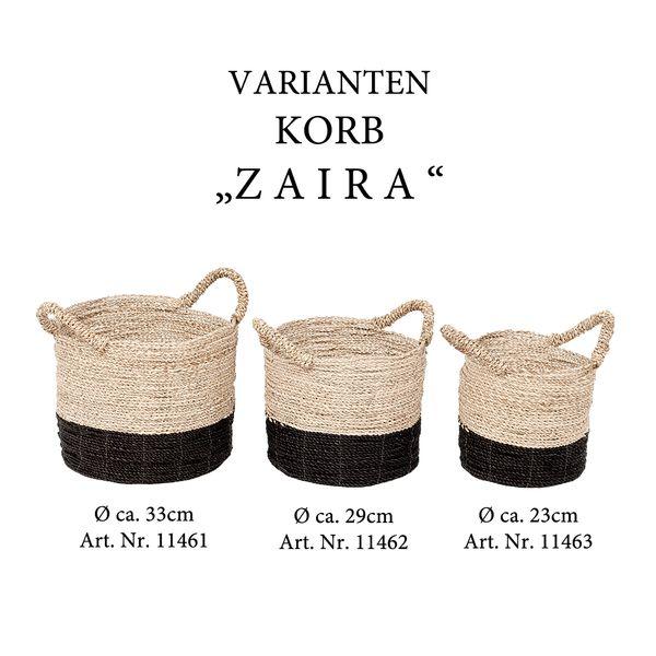 Korb ZAIRA ca. D23cm aus Seegras – Bild 5