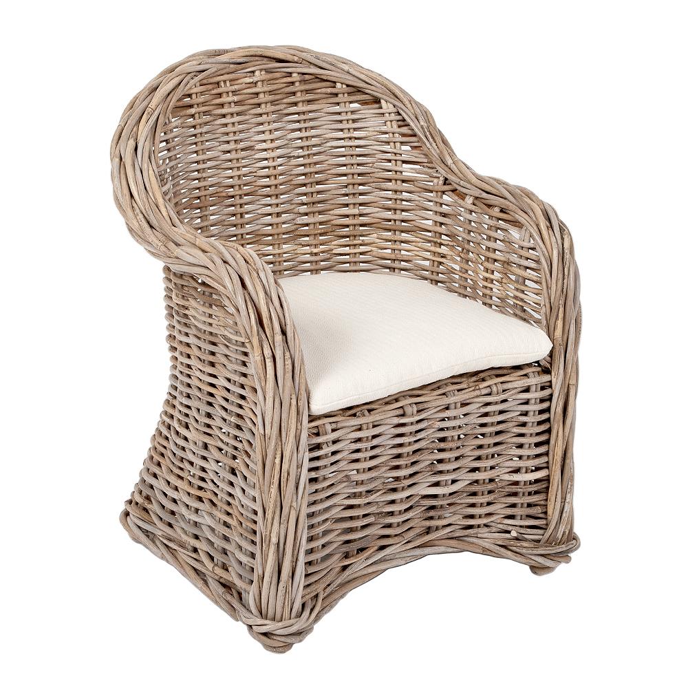 Rattan Kinder-Sessel LOTTI Natural Grey inkl. Sitzkissen ca. H60cm