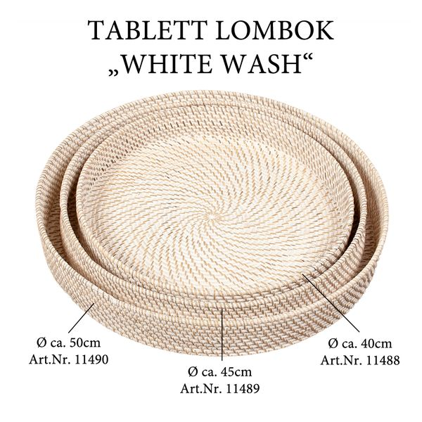 Tablett LOMBOK White Wash D50cm – Bild 6