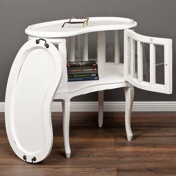Barschrank CORUNA ca. L73cm Mahagoni Antique White – Bild 2