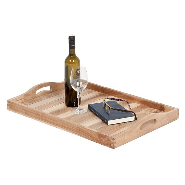 Tablett TRAY Natural ca. L64cm Mahagoni – Bild 2
