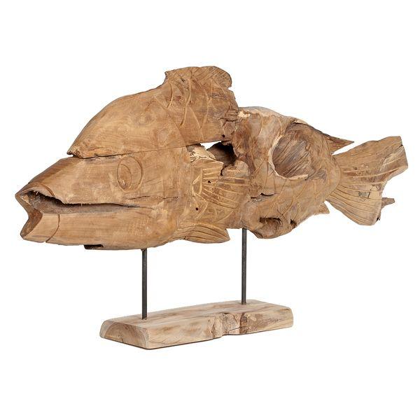Deko Fisch PESCADO ca. L130cm Recycled Wood – Bild 1